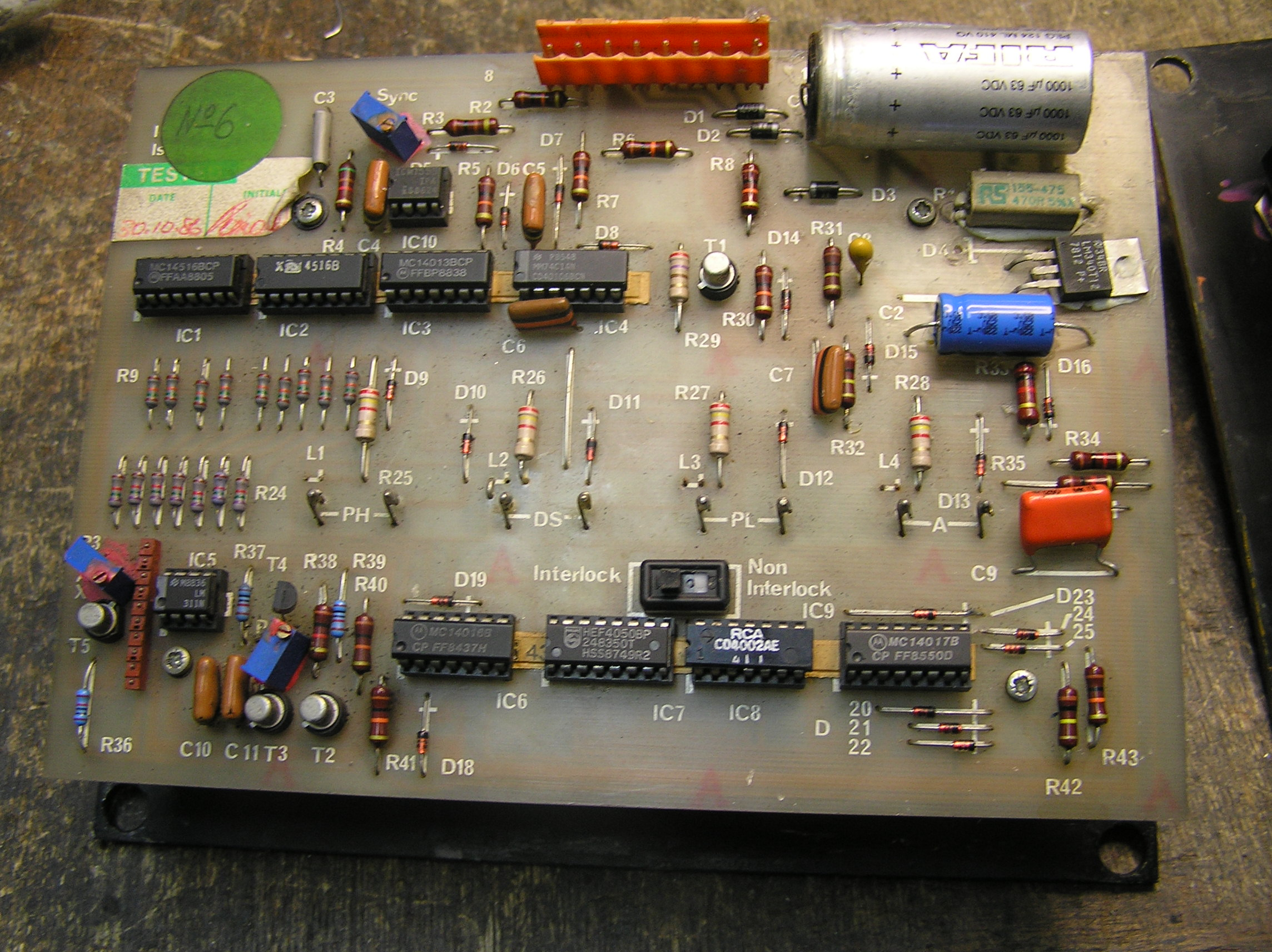 Flash Back Welder Control Card
